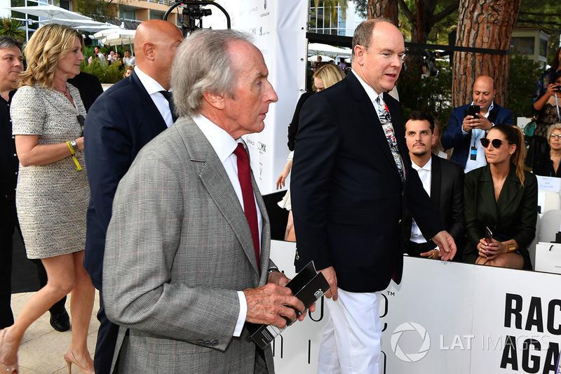 Джеки Стюарт и князь Монако Альбер II