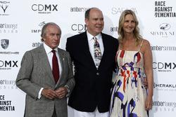 Jackie Stewart, HSH Prince Albert of Monaco, and Sonia Irvine