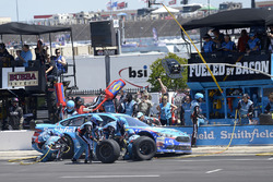 Aric Almirola, Richard Petty Motorsports Ford, makes a pit stop