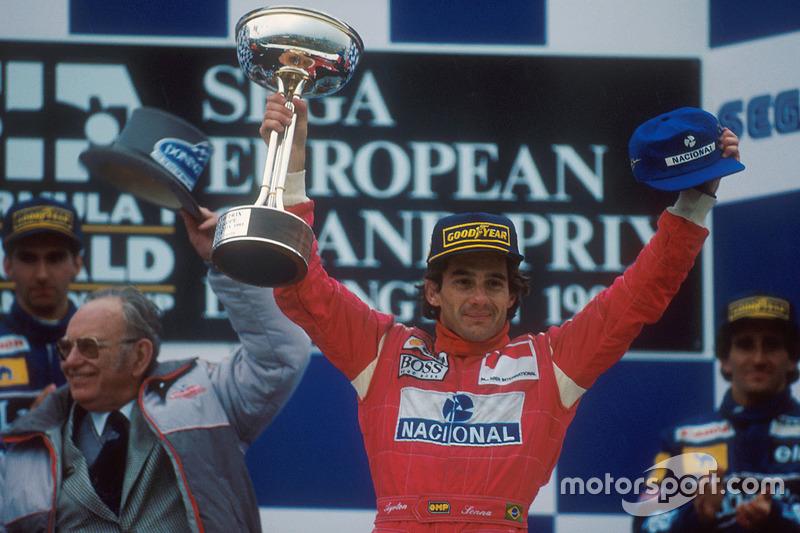 Nach dem Donington-Triumph gewinnt Senna nur noch 3 Mal...