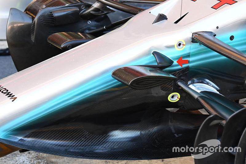Mercedes F1 W08: Onboard-Kameras