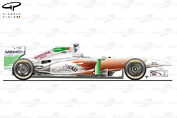 Force India VJM04 side view, Italian GP