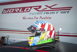 Шлем Александра Вурца на тестах World RX Team Austria Ford Fiesta