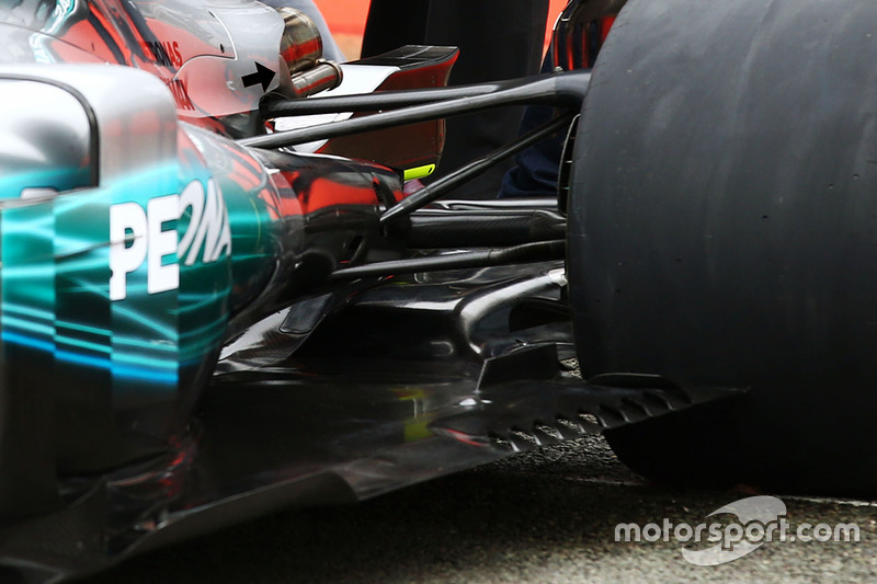 Mercedes AMG F1 W08 taban difüzör detay