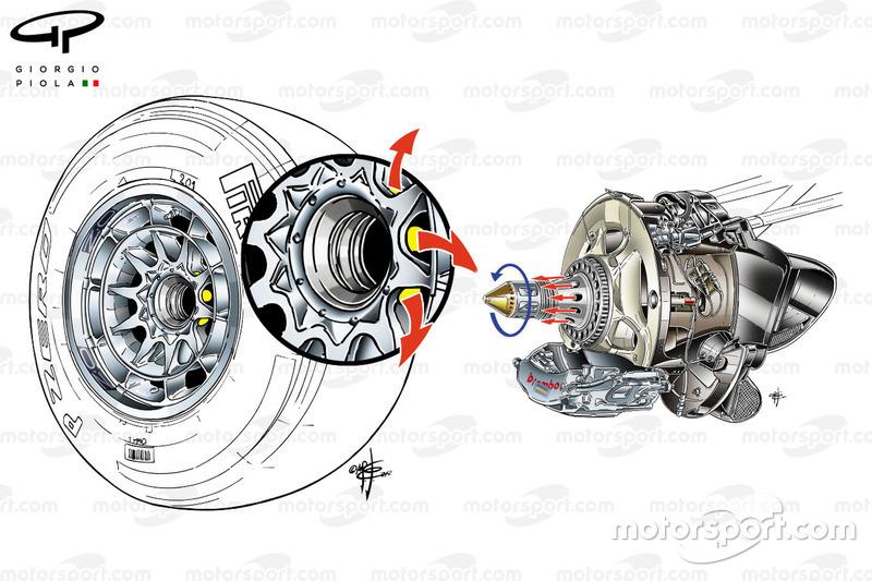 Red Bull RB8 aangeblazen as detail