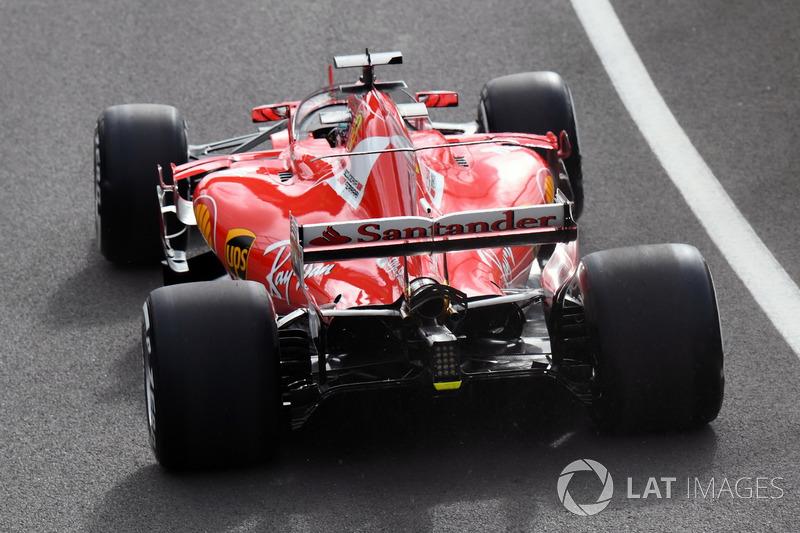 Sebastian Vettel, Ferrari SF70H, escudo