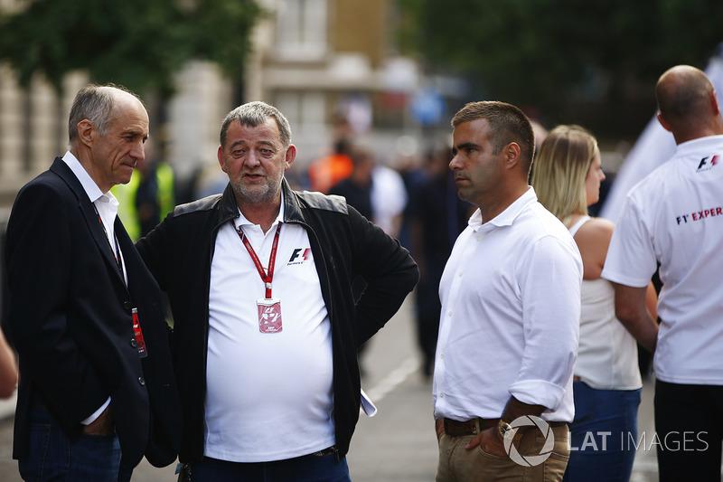 Franz Tost, Toro-Rosso-Teamchef; Paul Stoddart; Zsolt Baumgartner