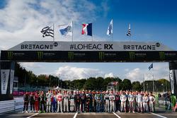 Gruppenfoto: Die Fahrer der Rallycross-WM (WRX) 2017