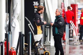 Jean-Eric Vergne, DS TECHEETAH, with Gerd Mauser of Jaguar Racing
