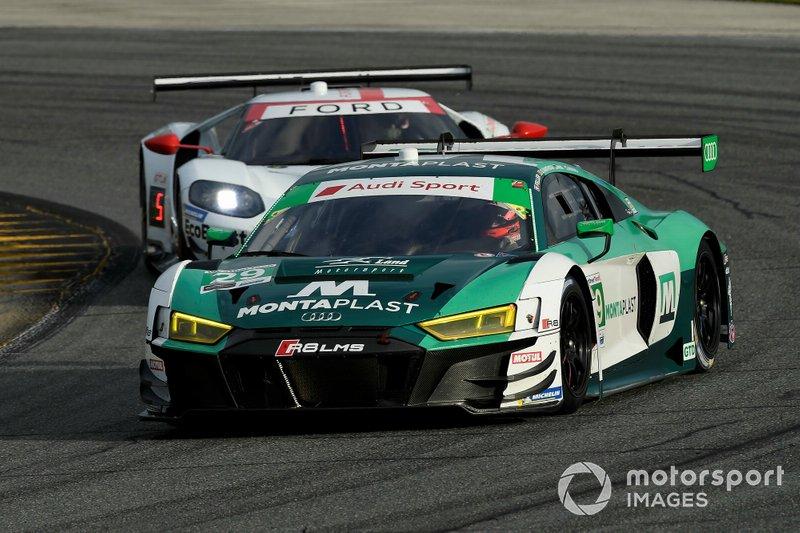 #29 Montaplast by Land Motorsport Audi R8 LMS: Daniel Morad, Christopher Mies, Dries Vanthoor, Ricky Feller.