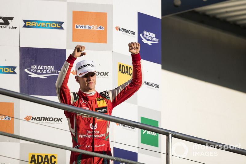Podium: Champion 2018, Mick Schumacher, PREMA Theodore Racing Dallara F317 - Mercedes-Benz