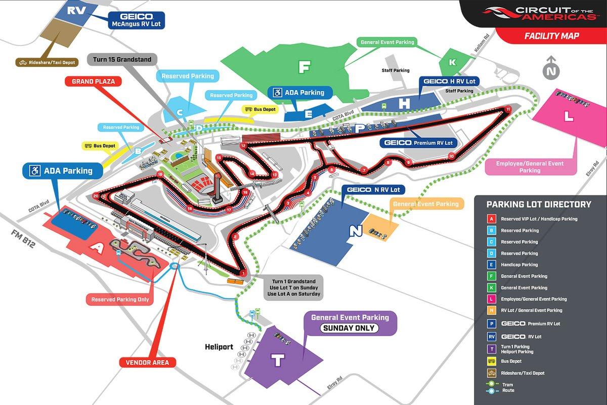 COTA circuit map