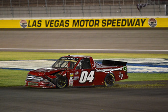 Cory Roper, Roper Racing, Ford F-150 Preferred Industrial Contractors Inc. shows damage