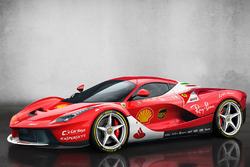 LaFerrari in Scuderia Ferrari livery