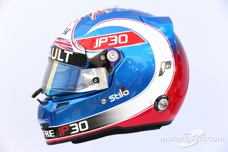 Casco de Jolyon Palmer, Renault Sport F1 Team RS17