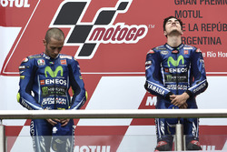 Podium: Race winner Maverick Viñales, Yamaha Factory Racing, Second place Valentino Rossi, Yamaha Factory Racing