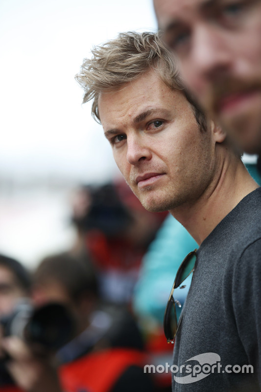 Nico Rosberg visits the paddock
