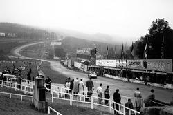 Blick in Richtung Eau Rouge bei den 24h Spa 1948