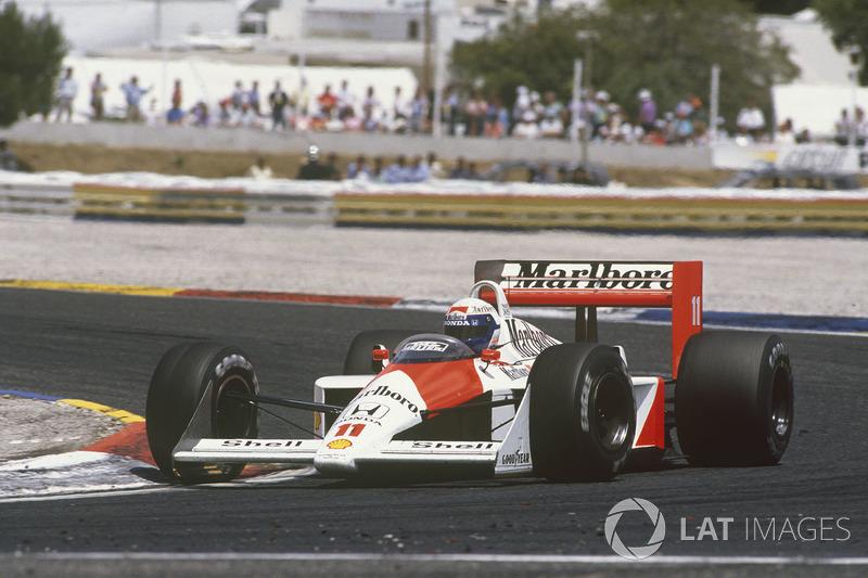 25º Alain Prost, McLaren MP4/4, Le Castellet 1988. Tiempo: 1:07.589