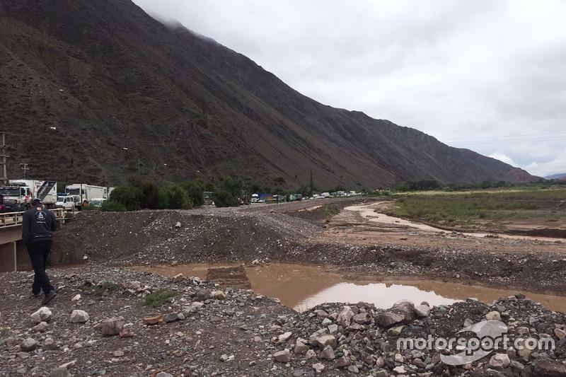Un deslizamiento de tierra en la etapa