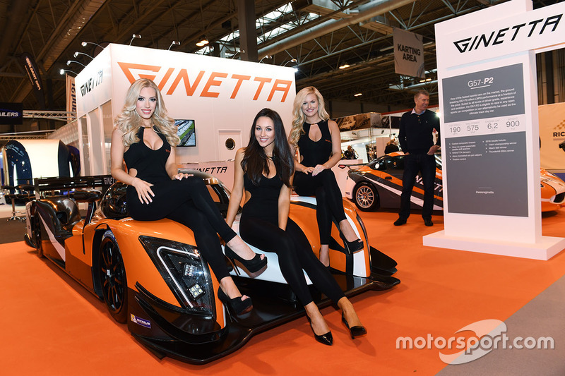 The Ginetta Stand And Lovely Girls At Autosport International Show