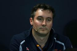 James Key, Director de técnico de Toro Rosso Scuderia en la Conferencia de prensa FIA