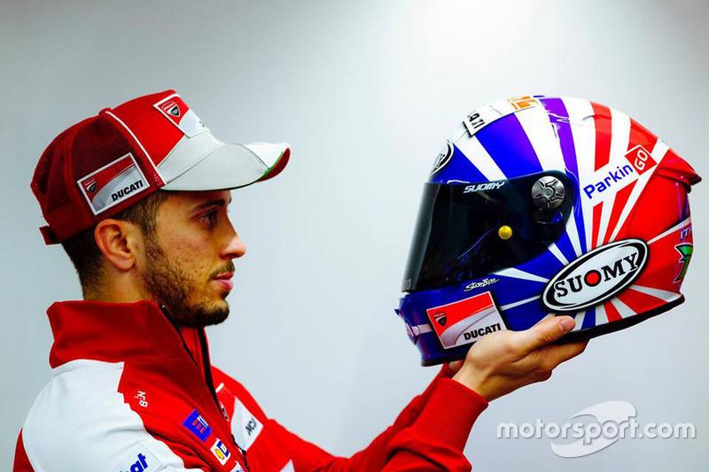Nieuwe helm van Andrea Dovizioso, Ducati Team