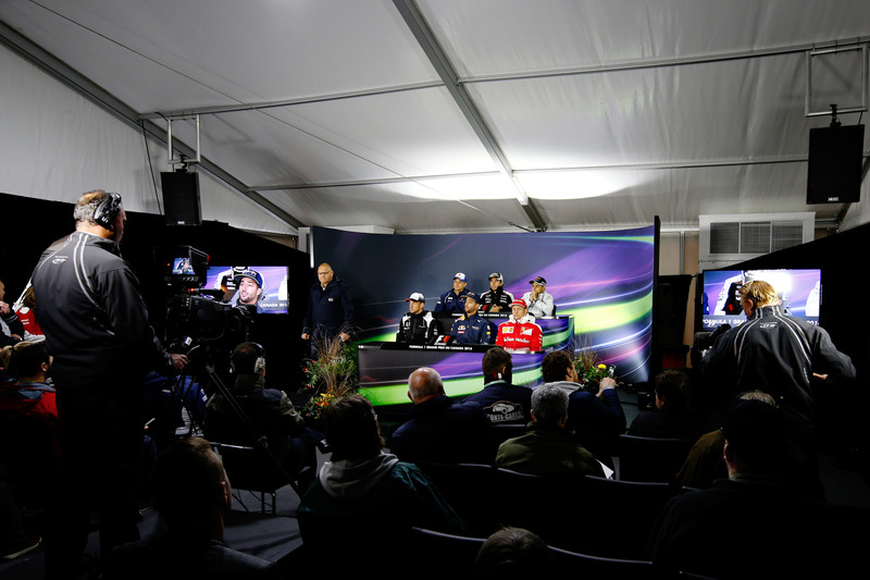 The Drivers Press Conference featuring Marcus Ericsson, Sauber F1, Sergio Perez, Force India, Felipe