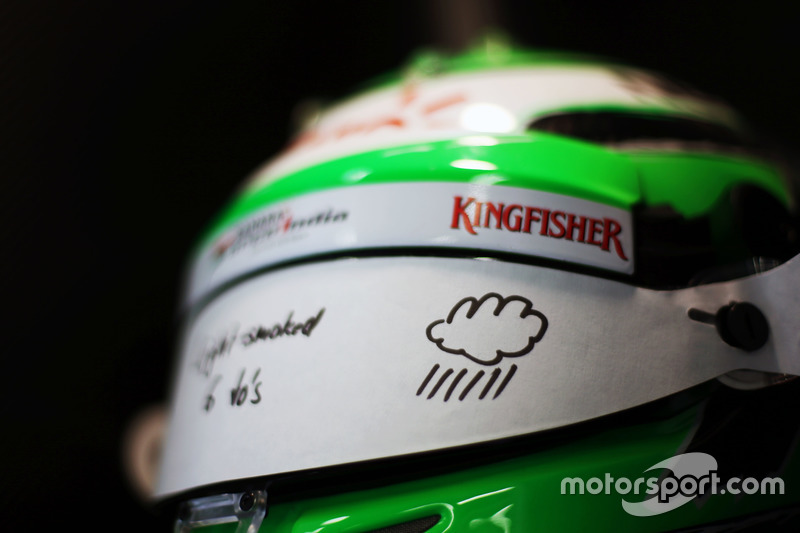 Kask, Nico Hulkenberg, Sahara Force India F1