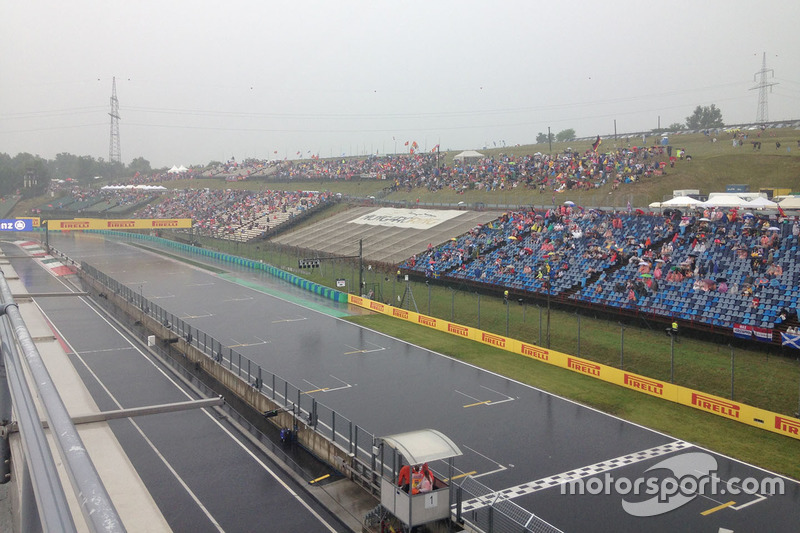 Hungaroring overview under the rain