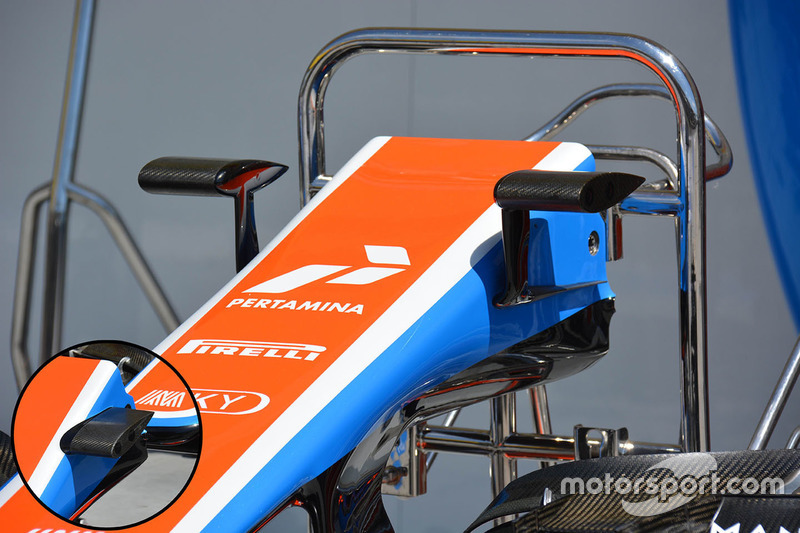Manor Racing camera mounts detail