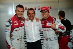 LMP1 polesitters #7 Audi Sport Team Joest Audi R18: Marcel Fässler, Andre Lotterer, Benoit Tréluyer