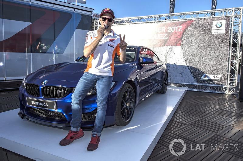Marc Marquez, Repsol Honda Team, with the BMW M Pole award