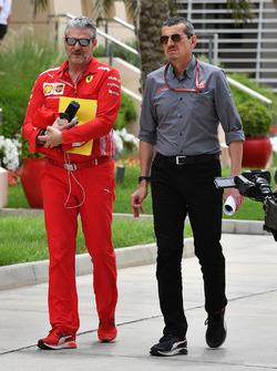 Maurizio Arrivabene, Ferrari Takım Patronu ve Guenther Steiner, Haas F1 Takım Patronu