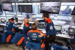 Hyundai Motorsport teamleden vieren de winst