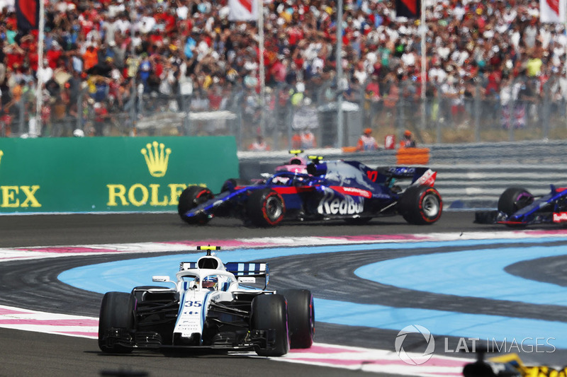 Sergey Sirotkin, Williams FW41 y Pierre Gasly, Toro Rosso STR13