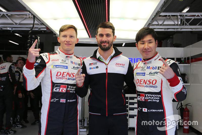 Los de la pole #7 Toyota Gazoo Racing Toyota TS050: Mike Conway, Jose Maria Lopez, Kamui Kobayashi
