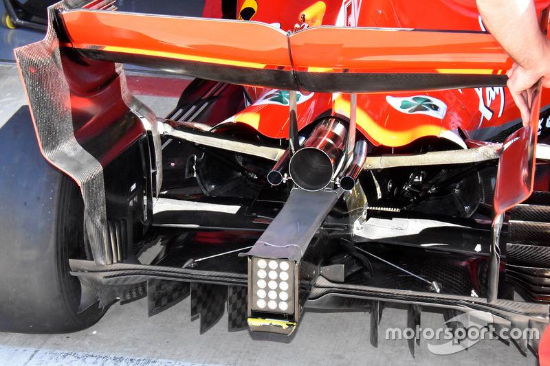 L'arrière et le diffuseur de la Ferrari SF71H