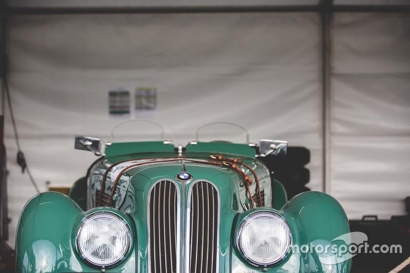 A vintage BMW