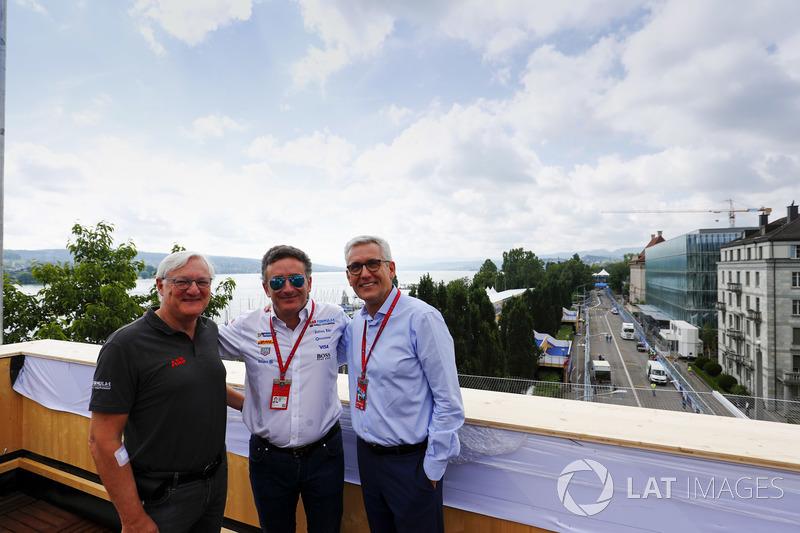 Alejandro Agag, CEO, Formula E, with Ulrich Spiesshofer, Chief Executive Officer, ABB