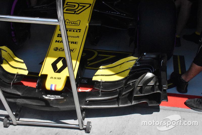 Detalle del alerón delantero del Renault Sport F1 Team R.S. 18