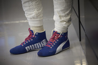 The boots of Valtteri Bottas, Mercedes AMG F1