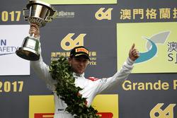 Podium: second place Robin Frijns, Audi Sport Team WRT, Audi R8 LMS