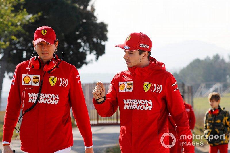Джон Елканн, президент FIAT та Шарль Леклер, Ferrari