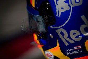 A helmet detail of Alex Albon, Scuderia Toro Rosso