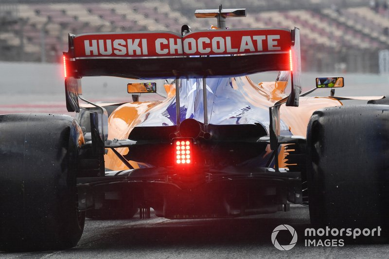 Detalle del coche de Lando Norris, McLaren MCL34