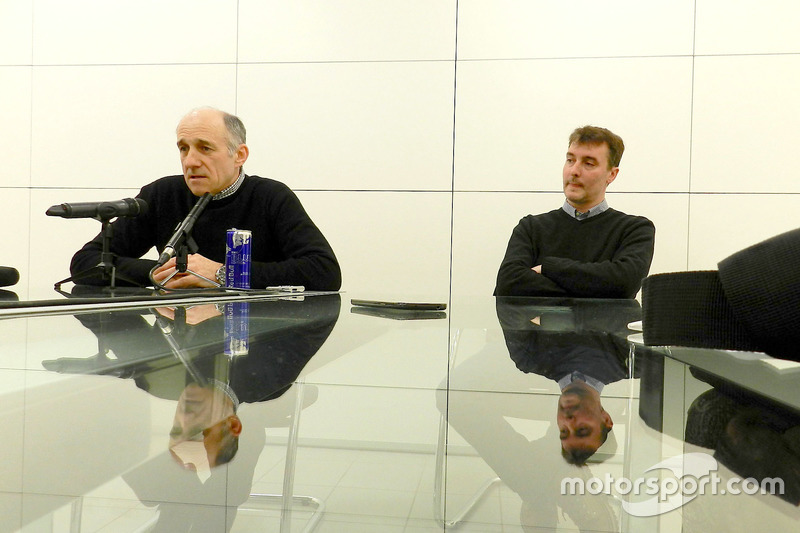 Franz Tost and James Key at the Scuderia Toro Rosso workshop
