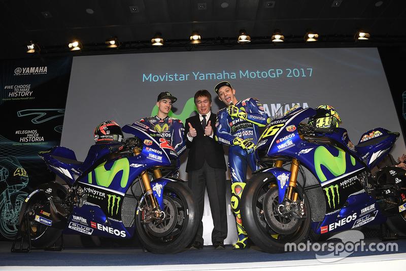 Valentino Rossi, Yamaha Factory Racing, Maverick Viñales, Yamaha Factory Racing, Kouichi Tsuji, Gerneral Manager Motorsport Development Division, Yamaha Motors