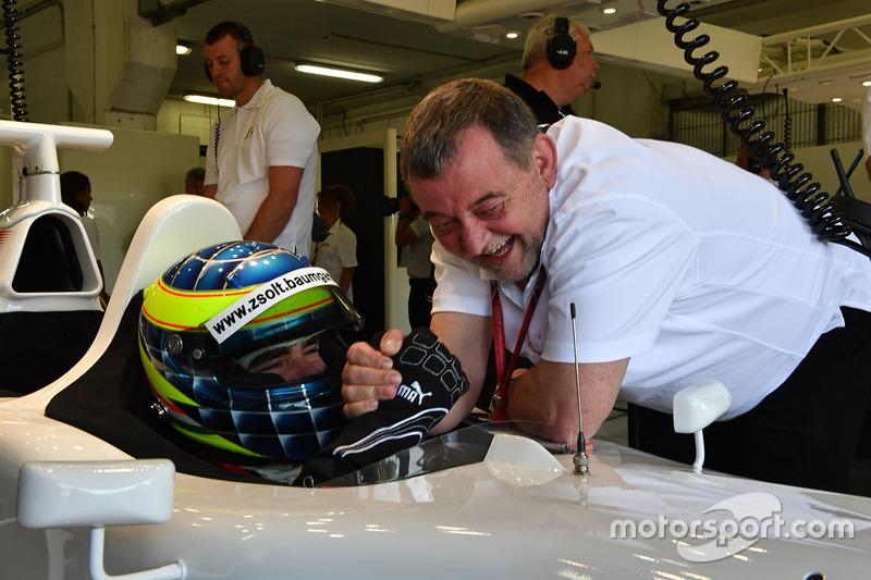 Zsolt Baumgartner, F1 Experiences 2-Seater driver and Paul Stoddart