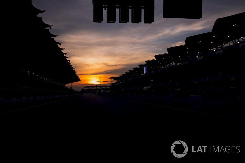 Sun rises at the Sepang Circuit
